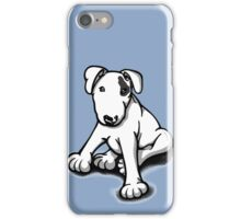Bull Terrier Puppy Black Eye Patch  iPhone Case/Skin