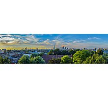 Panoramic of the London skyline at sunset Photographic Print