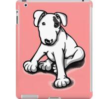Bull Terrier Puppy Black Eye Patch  iPad Case/Skin
