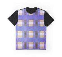 Abstraction #117 Blue Purple Tan White Blocks Graphic T-Shirt