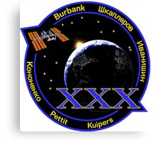 Expedition 30 Mission Patch Canvas Print