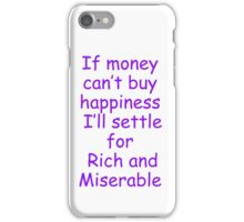 money /happiness iPhone Case/Skin