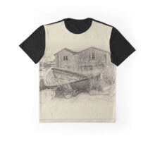 Peggy's Cove - sepia Graphic T-Shirt