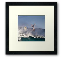 Surfer At Banzai Pipeline 2011.4 Framed Print