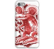 mouse with hard stick iPhone Case/Skin