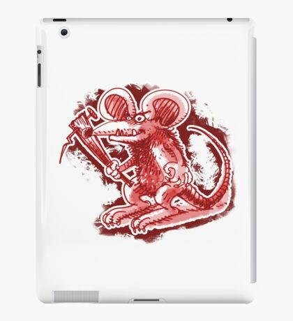 mouse with hard stick iPad Case/Skin