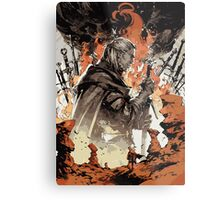 The Witcher - White Wolf Metal Print