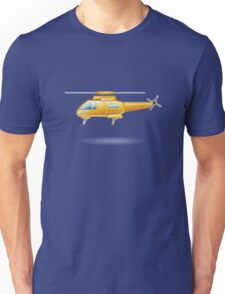 Yellow Paramedic Helicopter Unisex T-Shirt