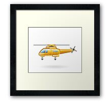 Yellow Paramedic Helicopter Framed Print