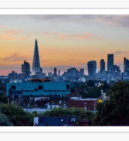 London skyline at sunset Sticker