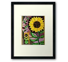 Sunflower Cycles Framed Print
