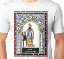 ST. AUGUSTINE OF HIPPO under STAINED GLASS Unisex T-Shirt