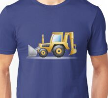 Yellow Bulldozer Unisex T-Shirt
