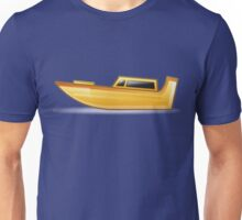 Yellow Speed Boat Unisex T-Shirt