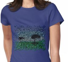 Lonely Park-Bubblefied. Womens Fitted T-Shirt