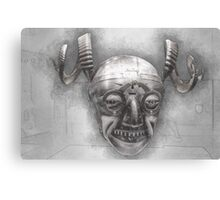 Henry VIII's horned helmet Canvas Print