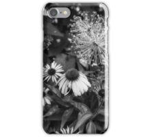 Coneflower in Dow Gardens 3 BW iPhone Case/Skin