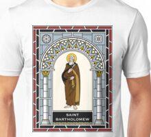 ST. BARTHOLOMEW, THE APOSTLE under STAINED GLASS Unisex T-Shirt