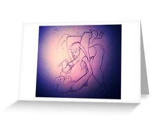 BJJ Women - sales with a bit of arm triangle thrown in! Greeting Card