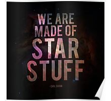 We Are Made of Star Stuff - Carl Sagan DARK Poster