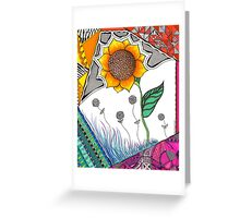 Surreal Sunflower  Greeting Card