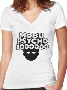 Mobu Psycho 1000000 Women's Fitted V-Neck T-Shirt
