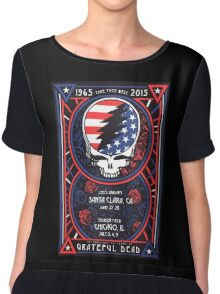 Grateful Dead at Levis Stadium, Santa Clara (50 Years) Chiffon Top