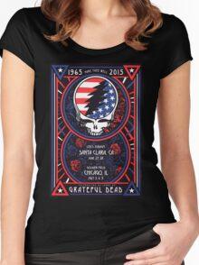 Grateful Dead at Levis Stadium, Santa Clara (50 Years) Women's Fitted Scoop T-Shirt
