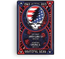 Grateful Dead at Levis Stadium, Santa Clara (50 Years) Canvas Print