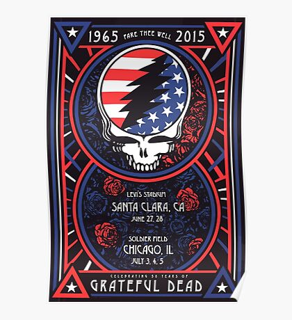 Grateful Dead at Levis Stadium, Santa Clara (50 Years) Poster