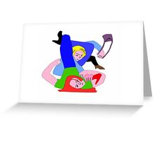 BJJ women - digital - sales but with a bit of arm triangle thrown in! Greeting Card