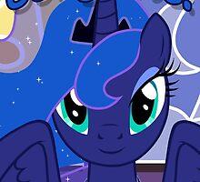 Princess Luna Greeting Card - Postcard My Little Pony by FalakTheWolf