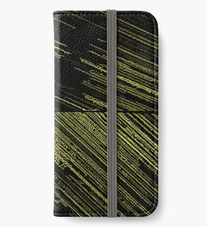 Line Art - The Scratch, yellow iPhone Wallet/Case/Skin