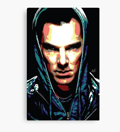 Benedict Cumberbatch: You Think Your World is Safe? Canvas Print