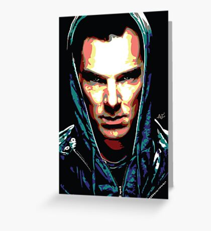 Benedict Cumberbatch: You Think Your World is Safe? Greeting Card
