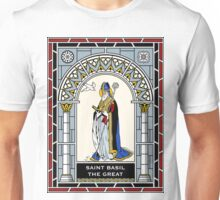 ST BASIL THE GREAT under STAINED GLASS Unisex T-Shirt