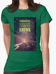 Space Exploration (Carl Sagan Quote) Womens Fitted T-Shirt