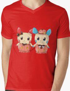 Halloween Plusle And Minun Mens V-Neck T-Shirt