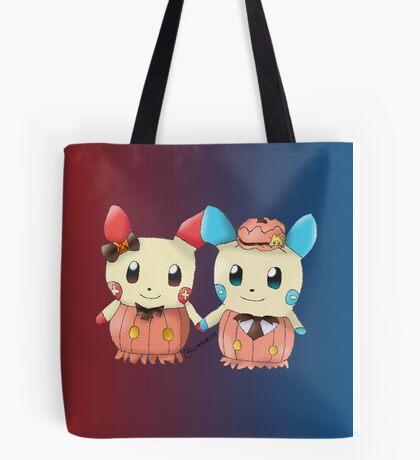 Halloween Plusle And Minun Tote Bag