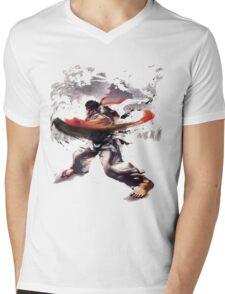 Street Fighter #2 - Ryu Mens V-Neck T-Shirt