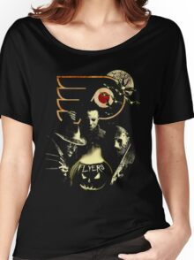 Philadelphia Flyers Halloween T-shirt  Women's Relaxed Fit T-Shirt