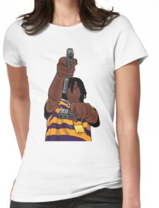 Chief Keef Toting Gun Womens Fitted T-Shirt