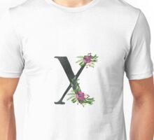 Monogram X with Floral Wreath Unisex T-Shirt