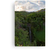 Makahiku Falls Canvas Print