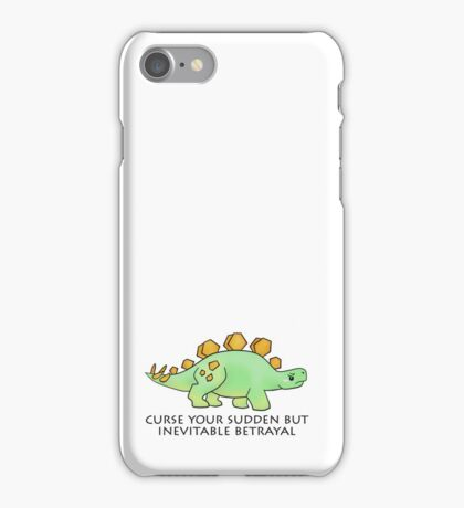 Firefly Wash's stegosaurus quote. iPhone Case/Skin