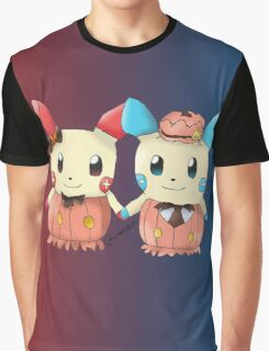 Halloween Plusle And Minun Graphic T-Shirt
