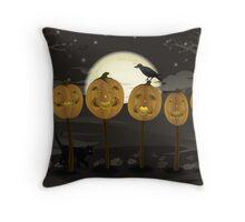 Court of Jack-o-lanterns Throw Pillow