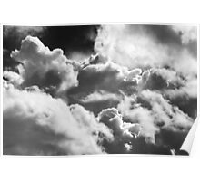 Black And white Sky With Building Storm Clouds Poster