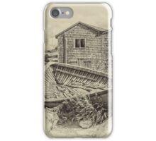 Peggy's Cove - sepia iPhone Case/Skin