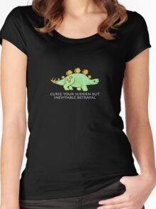 Firefly Wash's stegosaurus quote. (darker backgrounds) Women's Fitted Scoop T-Shirt
